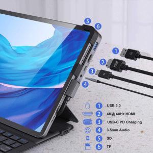 Adaptador 6 en 1 MOKIN para iPad Pro Mobile Store Ecuador1