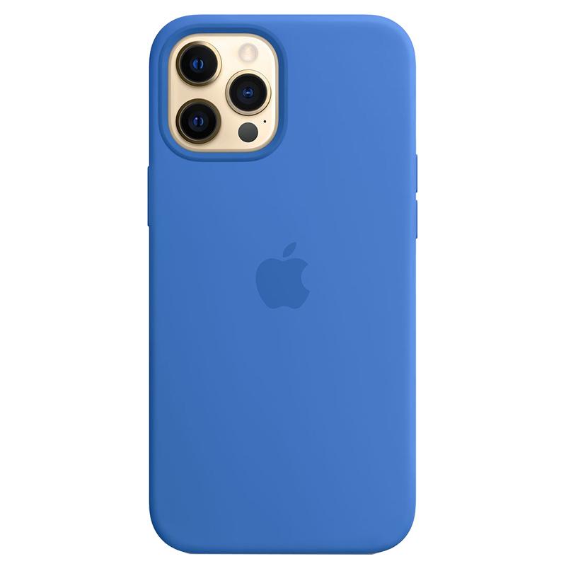 Case Silicona Azul Capri iPhone 12 Pro Max Mobile Store Ecuador