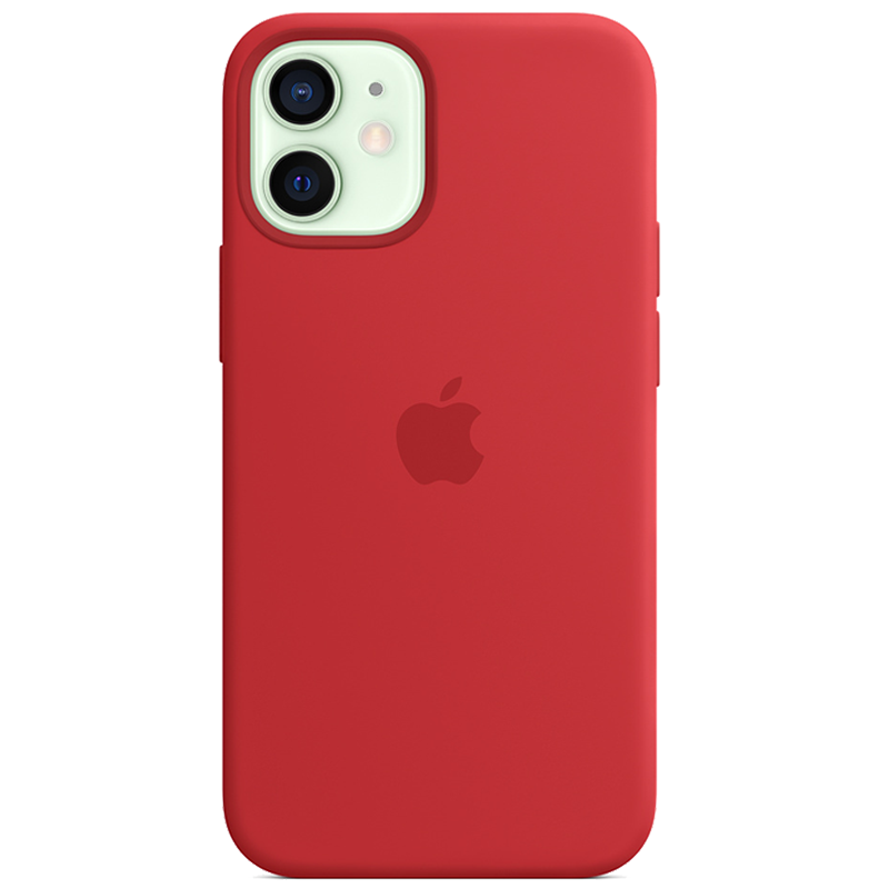 Case Silicona iPhone 12 Mini Rojo Mobile Store Ecuador