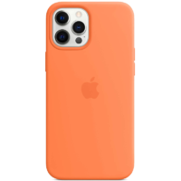 Case Silicona iPhone 12 Pro Max Naranja Mobile Store Ecuador