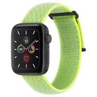 Correa Apple Watch Nylon Verde Neon Reflectivo 38-40mm Mobile Store Ecuador